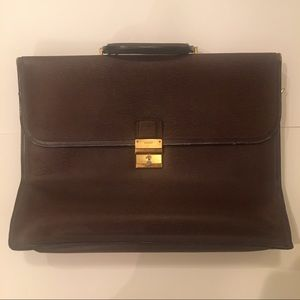 Vintage Bally Brown leather Briefcase